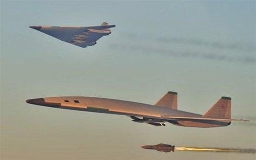 Hình ảnh mô phỏng của máy bay ném bom PAK DA mới.
