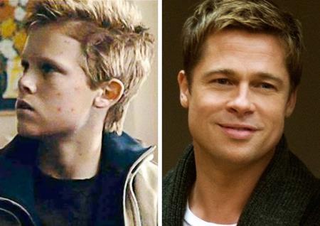 """""""The curious case of Benjamin Button"""" xoay quanh cuộc đời kì lạ của Benjamin, chàng """"dị nhân"""" ngày một trẻ lại theo thời gian nên Brad Pitt đóng Benjamin lúc trẻ trung, xuân sắc còn giai đoạn khi về già thì lại do nam diễn viên 9x Spencer Daniels đảm nhận"""