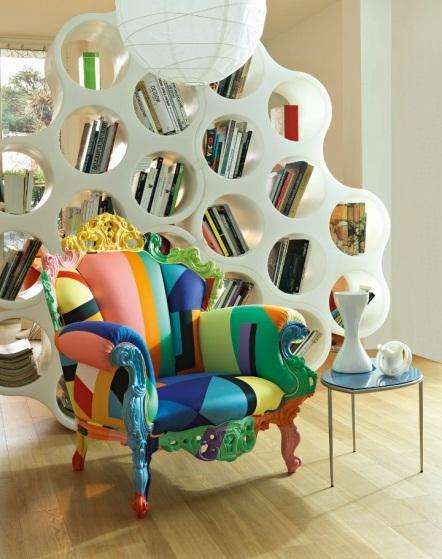 Kệ sách Cloud và ghế Proust Gemometrica''. Ra đời năm 1978, khung làm bằng gỗ bọc vải đa sắc, ghế Proust Geometrica được công nhận như biểu tượng của thiết kế thế kỷ 20: tìm kiếm sự hoàn hảo về nghệ thuật thẩm mỹ. Thương hiệu Cappellini thừa hưởng bản vẽ này năm 1993. Từ đó, mẫu ghế Proust Geometrica được hoàn thiện bằng tay theo truyền thống và vẫn giữ được sự toàn vẹn của thiết kế ban đầu.