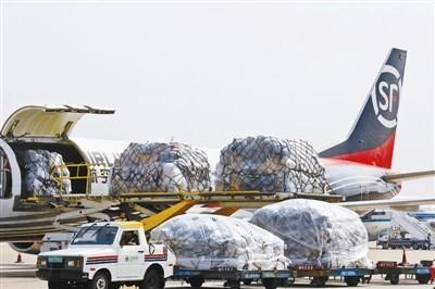 Máy bay chở cherry xuất khẩu.