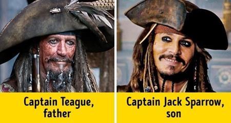 Huyền thoại Keith Richards của ban nhạc The Rolling Stones cũng từng vào vai bố của thuyền thưởng Jack Sparrow (Johnny Depp)