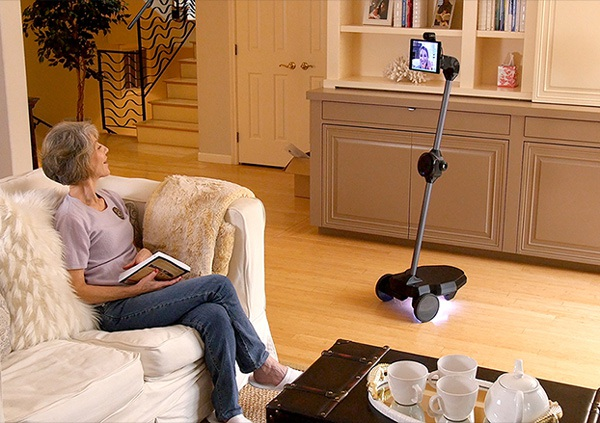 Robot tương tác từ xa Ohmni được tạo ra như một robot gia đình, đặc biệt hướng tới những người cao tuổi. (Ảnh CNN)