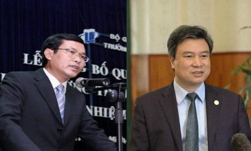 Hai tân Thứ trưởng Bộ GD&ĐT: ông Nguyễn Văn Phúc và ông Nguyễn Hữu Độ.