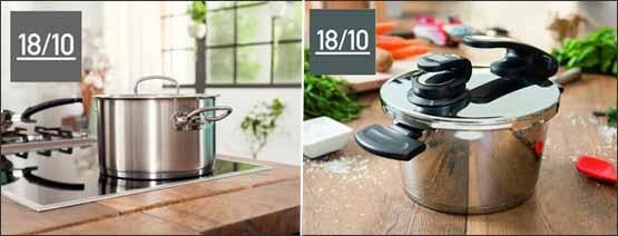- Đáy nồi/chảo của Fissler thích hợp cho mọi loại bếp (từ bếp ga, bếp từ, bếp điện, bếp hồng ngoại) với sáng chế đáy nồi độc quyền Cookstar có thiết kế hoa văn hình sao, giúp mặt đáy nồi luôn phẳng khi đun nóng. Ngoài ra, thiết kế 3 lớp kim loại dập liền với nhau theo công nghệ cao thành một khối thống nhất, tối ưu hóa việc hấp thụ nhiệt, truyền nhiệt và giữ nhiệt cho nồi.