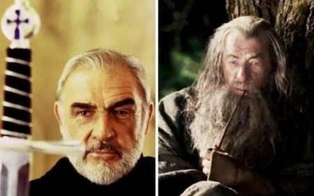 """Sean Connery đã được mời đóng """"Chúa tể của những chiếc nhẫn"""" kèm theo mức cát-xê lên tới 19 triệu bảng Anh và 15% doanh thu mà bộ phim sẽ mang lại. Tuy nhiên, nam tài tử vẫn kiên quyết từ chối do không thích kịch bản. Ngoài ra, """"Ma trận"""" cũng là một bom tấn khác bị Sean Connery phũ phàng khước từ."""