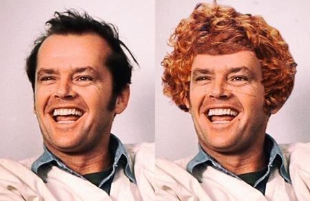 """Nhân vật Randle Patrick McMurphy trong """"One flew over the cuckoo's nest"""" khi lên phim cũng đã được thiết kế cho một kiểu tóc mới gọn gàng, dễ coi hơn nguyên tác"""
