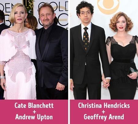 """""""Khi mới gặp nhau, tôi nghĩ Andrew thật kiêu căng còn anh ấy nghĩ tôi là không thể với tới. Rồi một đêm chúng tôi đang nói chuyện và anh ấy đột nhiên hôn tôi"""", nữ minh tinh Cate Blanchett đã khiến rất nhiều fan phải ngưỡng mộ khi chia sẻ về chuyện tình yêu lạ kì với ông xã Andrew Upton. Nữ diễn viên Christina Hendricks thì lại chính là người chủ động xin số điện thoại của Geoffrey Arend và cũng là người đã tỏ tình trước."""
