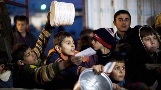 Nhiều trẻ em ở Syria rơi vào cảnh thiếu ăn. Ảnh: CBC