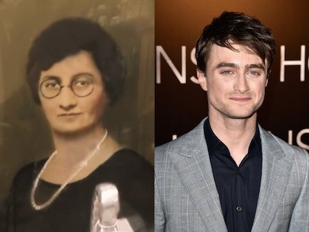 """""""Cậu bé phù thuỷ"""" Dan Radcliffe cũng đã được một phen ngỡ ngàng khi phát hiện ra """"phiên bản"""" nữ của chính mình."""
