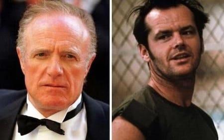"""James Caan đã từ chối bộ phim """"Bay trên tổ chim cúc cu"""" vì cho rằng bối cảnh phim quá khó thực hiện. Tuy nhiên, """"Bay trên tổ chim cúc cu"""" sau này đã giành thắng lợi cả ở 5 hạng mục danh giá nhất của giải Oscar và đem về cho nam tài tử Jack Nicholson giải thưởng Nam diễn viên xuất sắc nhất."""
