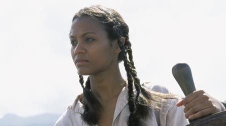 """Trước khi góp mặt trong vô vàn bom tấn ăn khách như """"Avatar"""" hay """"Guardians of the Galaxy"""", Zoe Saldana từng có một thời gian dài vật lộn với những vai phụ. Và khi đóng một vai trò nhỏ trong phim """"Pirates of the Caribbean: The curse of the black pearl"""", Saldana đã bị đối xử hết sức bất công cũng như không được tôn trọng. Nữ diễn viên đã cảm thấy chán nản tới mức không những muốn bỏ vai mà còn muốn từ bỏ luôn cả việc diễn xuất."""