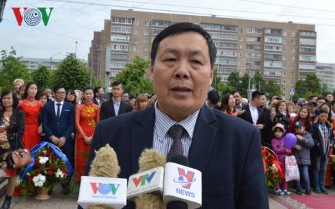 """Chủ tịch Hội người Việt Nam """"Đoàn kết"""" tại thành phố Ulyanovsk Trịnh Văn Quế."""