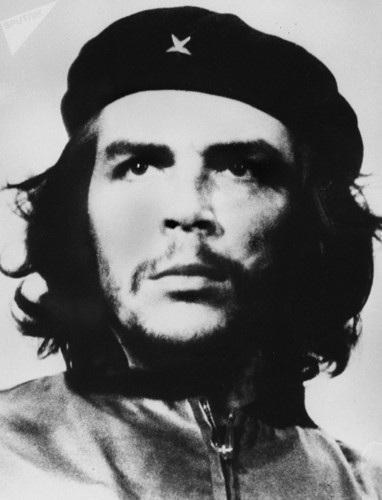 Bức ảnh anh hùng cách mạng Mỹ Latin Ernesto Che Guevara đã trở thành biểu tượng và nguồn cảm hứng cho phong trào chiến đấu giành lại độc lập dân tộc trên khắp thế giới. Ảnh: Sputnik