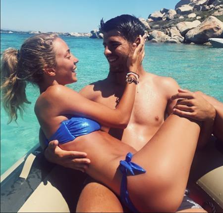 Morata đã hết sức may mắn khi lấy được Alice Campello làm vợ