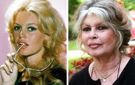 """Brigitte Bardot từng được coi là """"biểu tượng sex"""" của nước Pháp nhưng trải qua nhiều thăng trầm, nhan sắc của Brigitte Bardot cũng đã in dấu ấn thời gian và chẳng còn duy trì được vẻ quyến rũ, bốc lửa ngày nào."""
