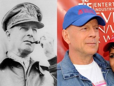Nếu Hollywood có ý định làm phim về Thống tướng Douglas MacArthur thì chắc chắn Bruce Willis sẽ là cái tên đầu tiên được các nhà sản xuất nhớ đến.