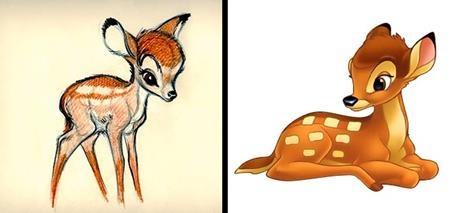 Bambi trong bộ phim cùng tên không có quá nhiều sự đổi khác, trừ họa tiết trên bộ lông