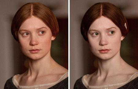 Phải điều chỉnh lại màu tóc, màu mắt và cả đôi tai thì nữ chính Jane Eyre trong bộ phim cùng tên mới có được tạo hình đúng như nguyên tác tiểu thuyết