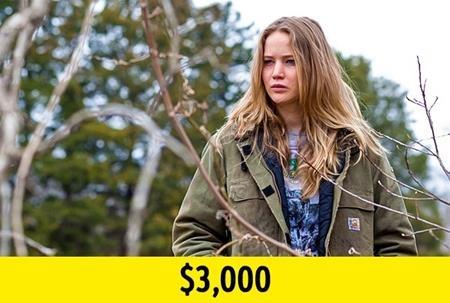 """""""Winter's bone"""" chính là bộ phim giúp Jennifer Lawrence có được một chỗ đứng tại kinh đô điện ảnh cùng một đề cử Oscar. Chính vì vậy, dù chỉ nhận mức thù lao là 3.000 đô la Mỹ nhưng J.Law vẫn không hề cảm thấy hối tiếc khi tham gia tác phẩm này."""