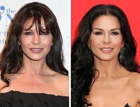 Ngay cả một mỹ nữ U50 như Catherine Zeta-Jones cũng để tóc mái để trông trẻ trung hơn