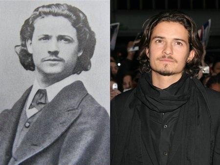 Orlando Bloom có vẻ như đã tìm được hoá thân kiếp trước của mình, đó là hoạ sĩ, nhà văn nổi tiếng người Romania, Nicolae Grigorescu.