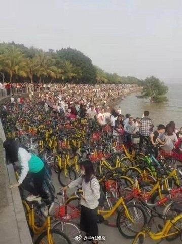 Vạn xe đạp chen nhau không lối thoát ở Trung Quốc - 3