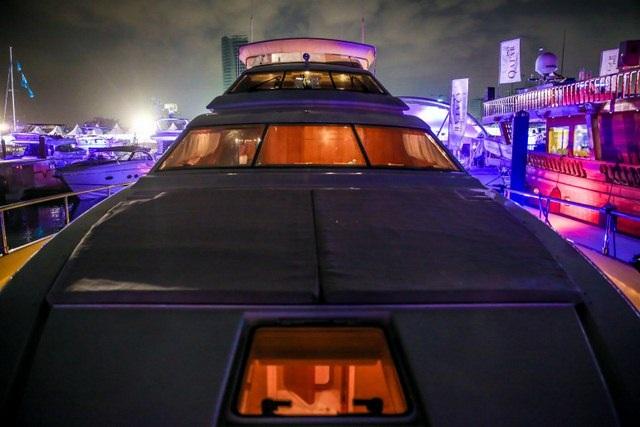 Du thuyền đậu ở cảng Doha.