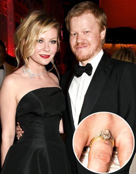"""Để có được cái gật đầu của """"bạn gái Người Nhện"""" Kirsten Dunst, Jesse Plemons đã không tiếc tiền mua một chiếc nhẫn kim cương hình trái xoan hết sức tinh xảo."""