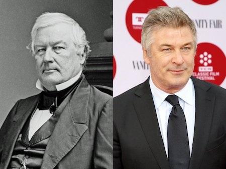 Alec Baldwin trông khá giống với Millard Filmore, vị Tổng thống thứ 13 của Hoa Kỳ.