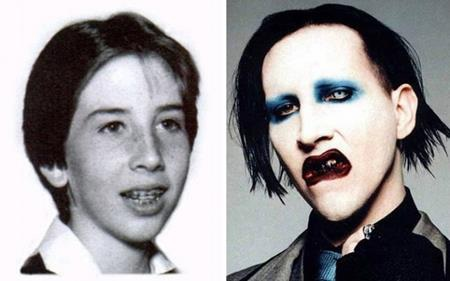 Không được báo trước chắc chắn chẳng ai nhận ra nổi Marilyn Manson ngày trước