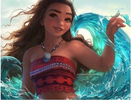 Nàng công chúa Moana thì lúc nào cũng xinh đẹp và khả ái