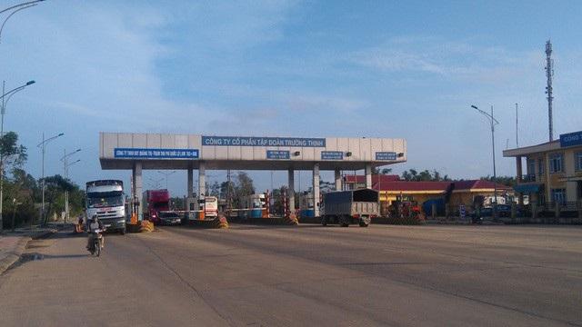 Trạm BOT đặt trên QL1 qua xã Triệu Giang, huyện Triệu Phong, tại km 763+800
