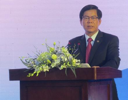 Ông Hoàng Văn Ninh, Chủ tịch Hội đồng quản trị EVNFinance phát biểu tại buổi lễ.
