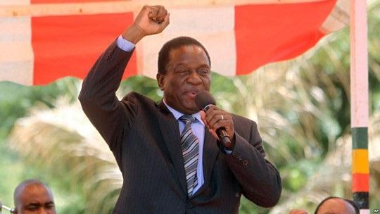 Cựu Phó Tổng thống Emmerson Mnangagwa. Ảnh: AP