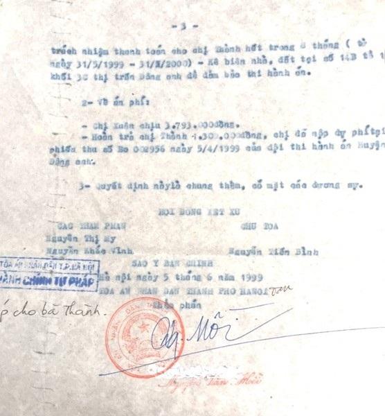Quyết định của Toà án từ năm 1999, đến nay bà Nguyễn Thị Thành vẫn chưa nhận được tiền thi hành án.