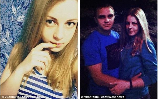 Yana Kryuchkove và người bạn trai Evgeny Chernov