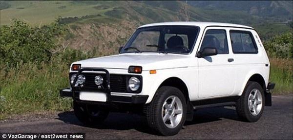 Chiếc xe Niva, tương tự loại xe mà cặp đôi đã sử dụng khi vụ việc xảy ra