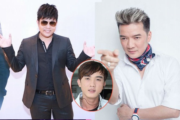 Quang Lê và Đàm Vĩnh Hừng từng có làm nổ ra một cuộc khẩu chiến đầy ầm ĩ trên Facebook chỉ vì một cậu học trò. Ảnh: TL.