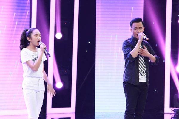 Quang Tiến và em gái họ Ân Ân về nhì với giải thưởng 15 triệu đồng.