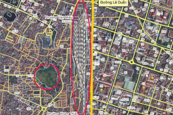 Mật độ dân cư, cảnh quan khu vực ga Hà Nội và phụ cận