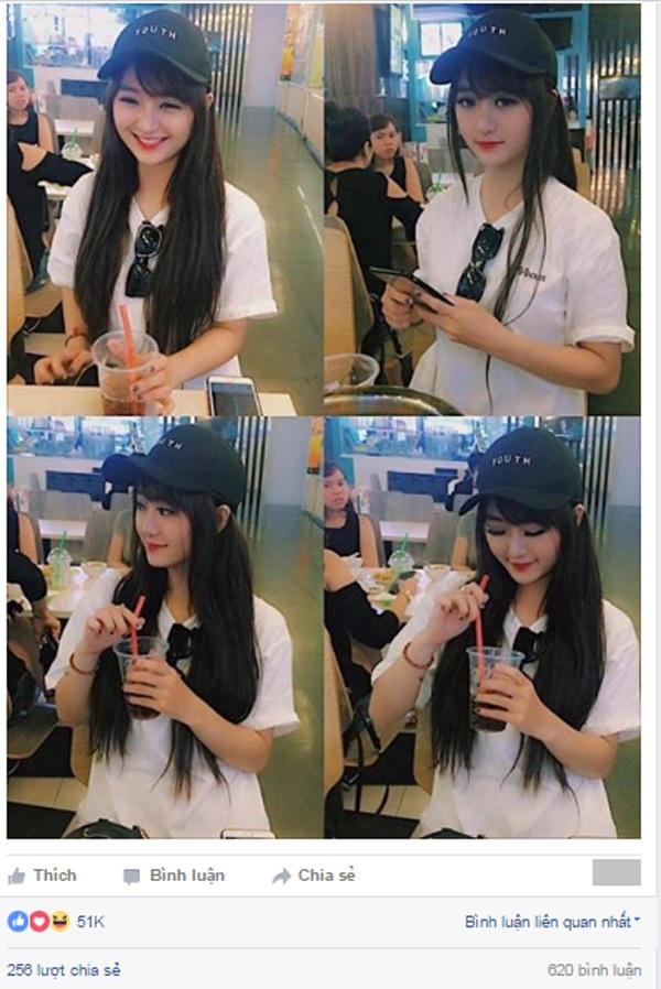 4 bức ảnh của cô gái xinh đẹp này đang được dân mạng truyền tay, hút hơn 50.000 Likes trên một trang mạng xã hội.