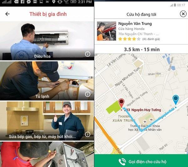 Với Rada, người dùng có thể dễ dàng tìm kiếm những dịch vụ sửa chữa các thiết bị ở gần nơi mình sống