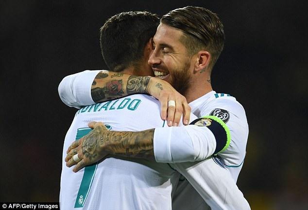 Mối quan hệ giữa C.Ronaldo và Sergio Ramos không còn tốt đẹp như xưa