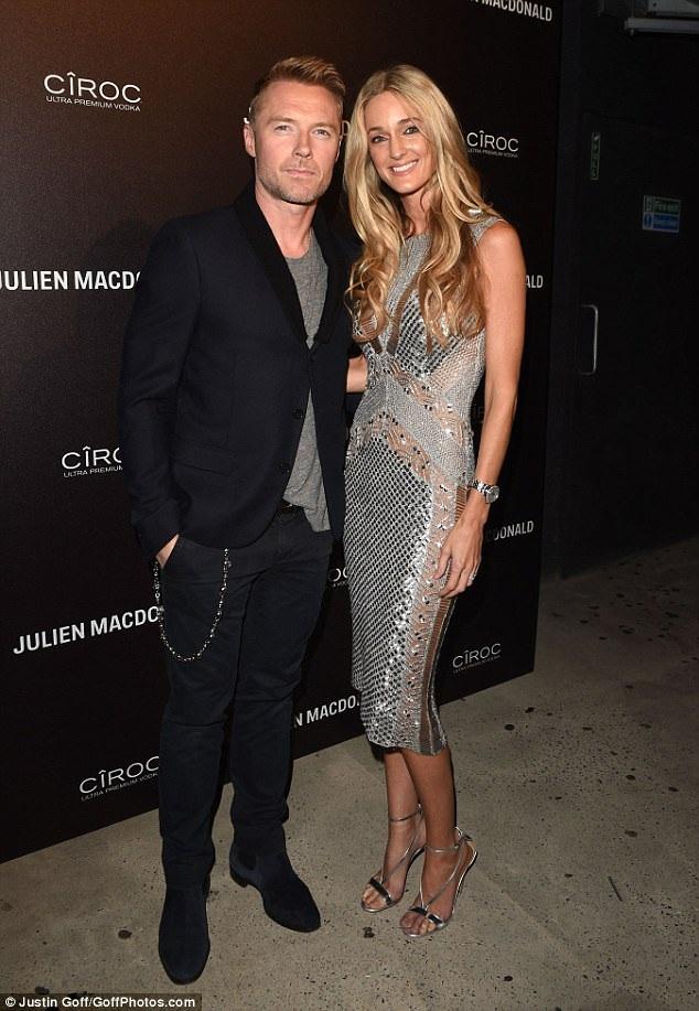 Vợ chồng Ronan Keating đẹp đôi trong sự kiện, tối 19/9.