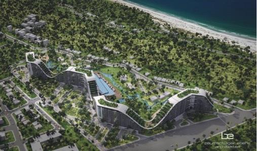 Phối cảnh tổng thể dự án The Coastal Hill