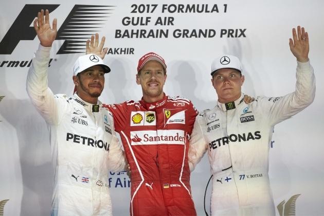 Đánh bại Hamilton và Bottas, Vettel có chiến thắng chặng thứ 2 - 1