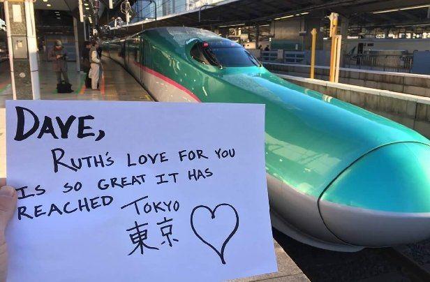 Dave, tình yêu của Ruth dành cho anh rất lớn, nó đã chạm tới Tokyo.