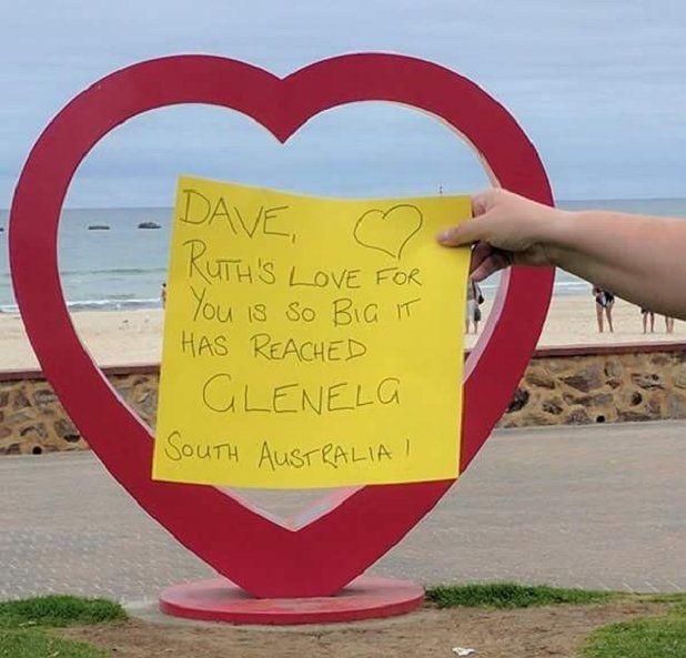 Dave, tình yêu của Ruth dành cho anh rất lớn, nó đã chạm tới Glenelg, Nam Úc.