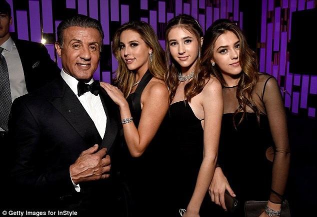 Scarlet, Sophia và Sistine là 3 trong số 5 người con của Sylvester Stallone