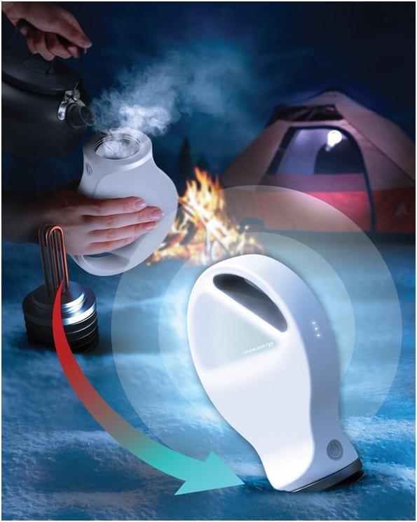 Thiết kế sử dụng một máy phát nhiệt điện, hoạt động bằng cách tạo ra năng lượng khi có sự chênh lệch nhiệt độ giữa 2 đầu thiết bị sạc.